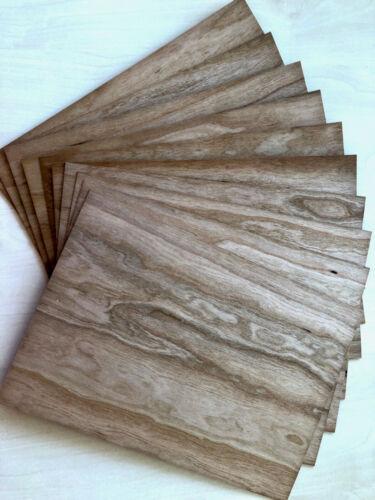 10 Bogen Microwood Echtholz-Furnierpapier beidseitig 300 x 210 mm