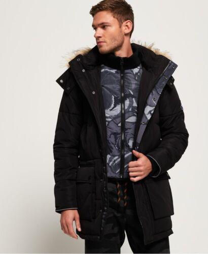 Sd Black Parka Mens trapuntato Expedition Everest Camo Jacket Superdry 5xSYqn