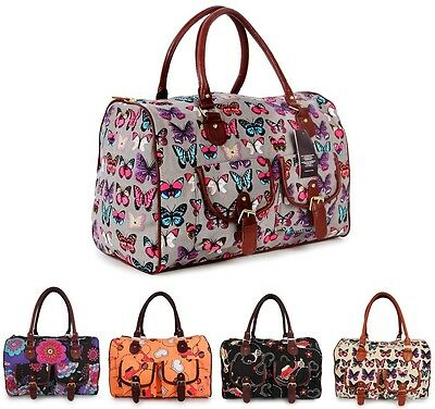 OVERSIZED CANVAS BAG TRAVEL MATERNITY OVERNIGHT GYM LADIES WEEKENDER HOLDALL