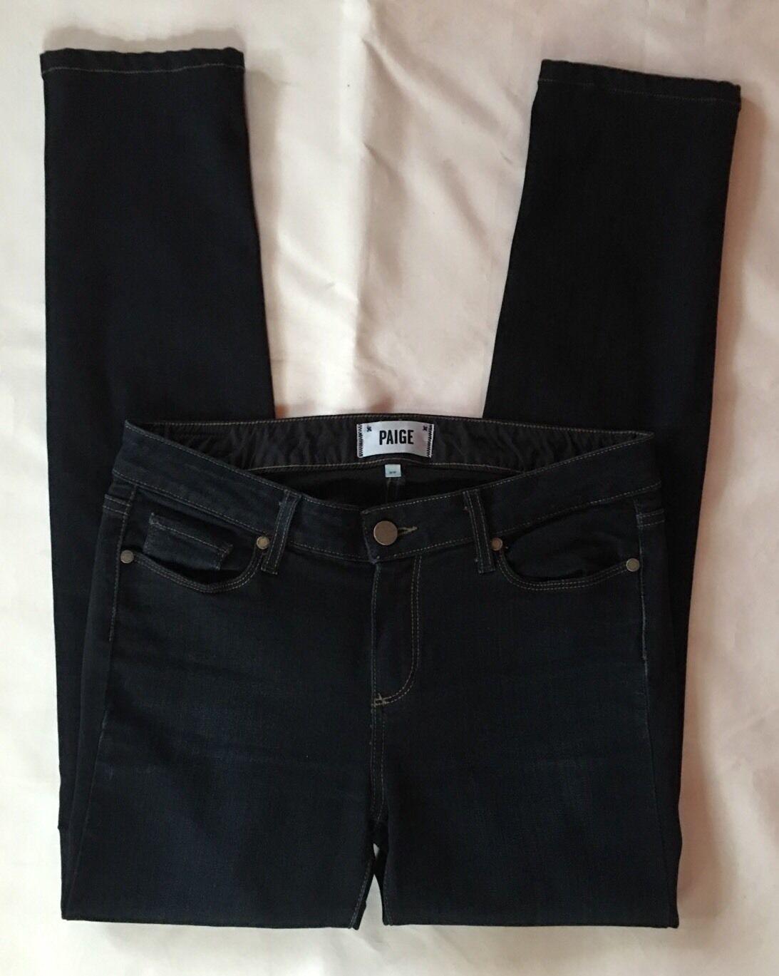 EUC Women's Paige Skyline Mona Wash Skinny Dark Denim Jeans-Sz 29