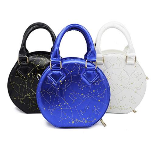 Women Lolita Gorgeous Constellation Gold Embroidery Shoulder Bag Handbag Satchel