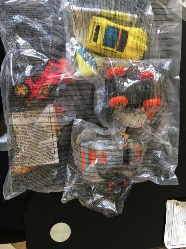 McDonalds Toys Action Man ATOM Vehicle Cars With Keys 2006 Full Set Of 4 New