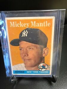 MICKEY-MANTLE-1958-Topps-150