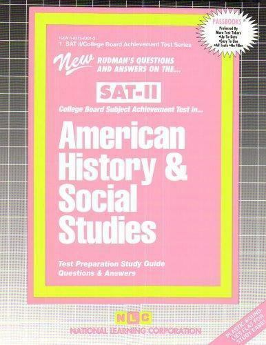 College Board SAT II Subject Test: American History and Social Studies (1997, Sp
