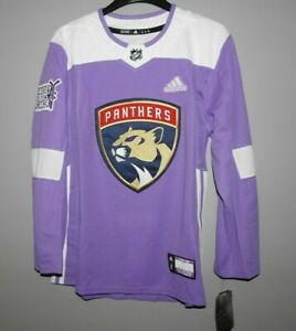 Authentic-Adidas-NHL-Florida-Panthers-Hockey-Fights-Cancer-Hockey-Jersey-New