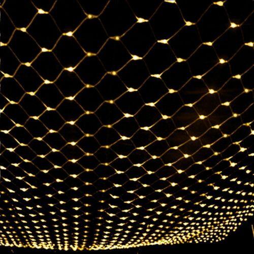 LED String Fairy Lights Net Mesh Curtain Xmas Wedding Party Home Outdoor Decor