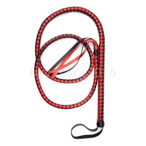 1.8m Long Faux Leather Whip Handle Riding Crop Flogger cosplay party queen game