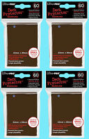 240 Ultra Pro Deck Protector Card Sleeves Brown Yugioh 4 Packs Small Size