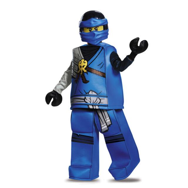 Jay Prestige Ninjago Blue LEGO Child Costume | Disguise 10328  sc 1 st  eBay & Disguise Lego Ninjago Deluxe Costume Ret Jay Sz Small Boys 4 6 | eBay