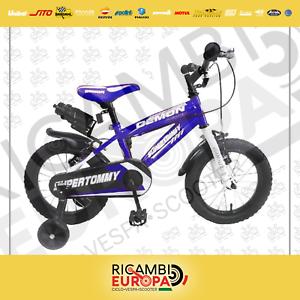 Details Zu Bici Bicicletta 12 14 16 Bambino Bambini Demon Super Tommy Blu Rossa