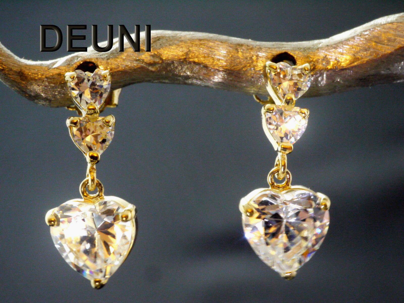 333 333 333 oro a Perno 16 5 mm lunghezza con Zirconia 1 paia 82e92e