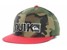 Quiksilver Blocked Flex Camo/Red Cap Hat - Size: S/M