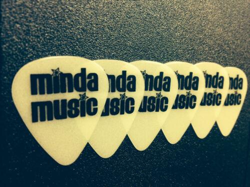 MindaMusic GLOW IN THE DARK GUITAR PICKS Medium Gauge 6 pack FREE SHIPPING
