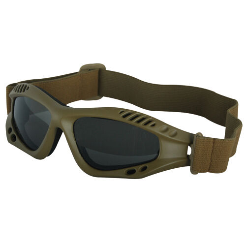 NEW - Military Tactical Mojave Shatterproof UV Rated GOGGLES - COYOTE DESERT TAN