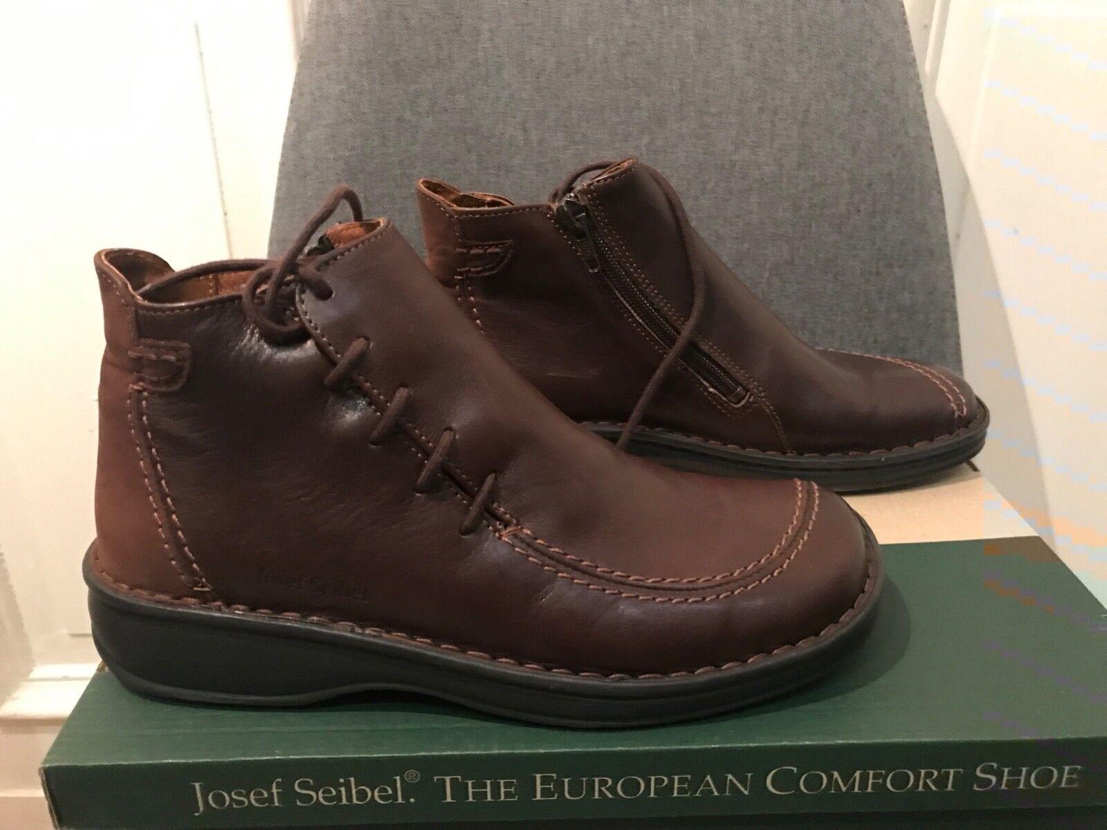 JOSEF SEIBEL cuir Chaussures Femmes Bottes Chaussures noir taille 37 peu porté