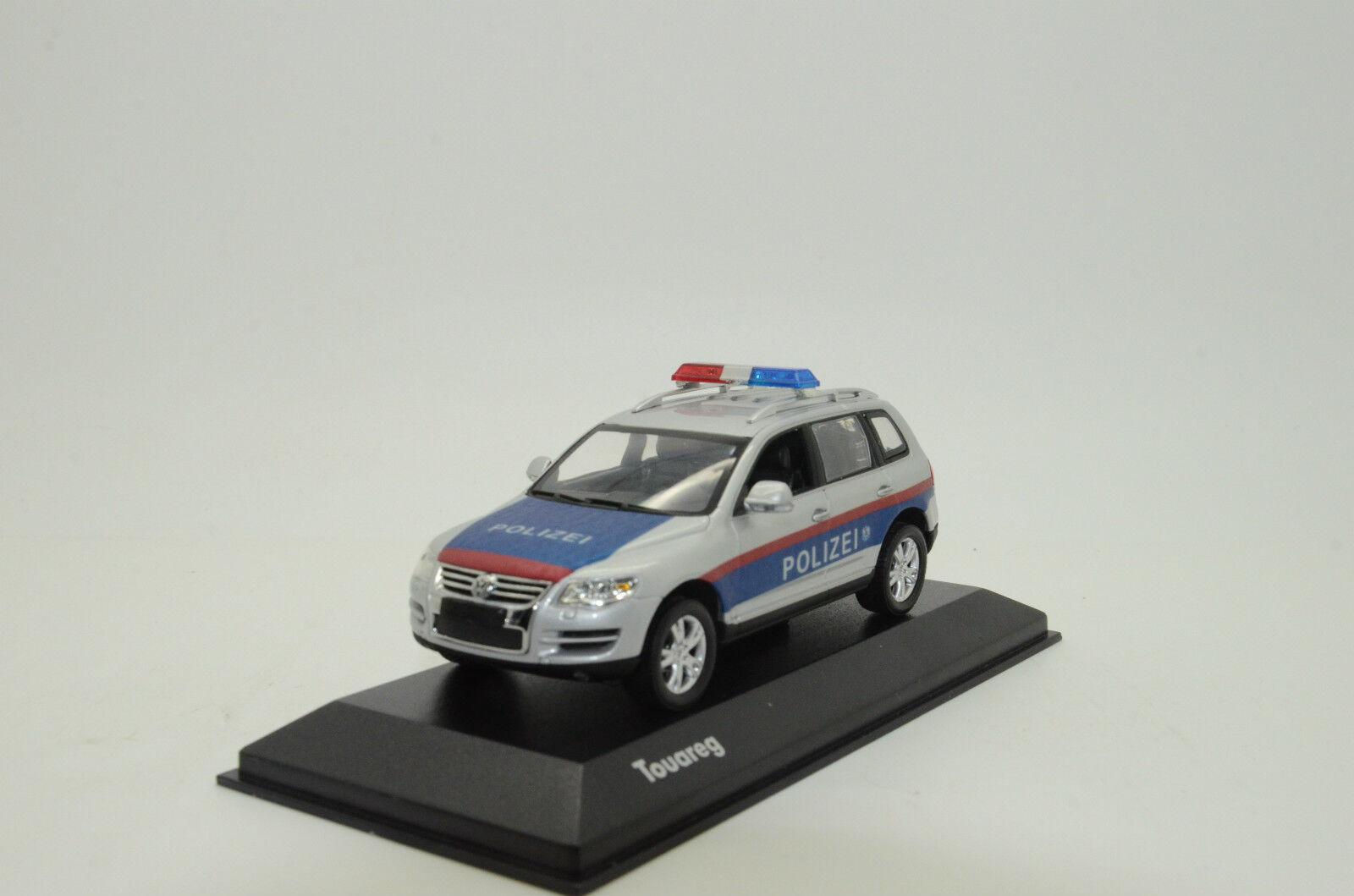 rara VW Touareg Austria policía Polizei Hecho a Medida 1/43