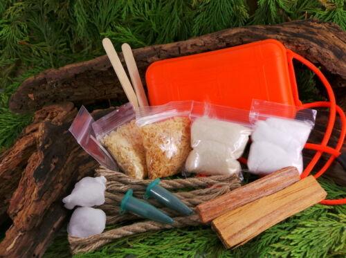 Survie Kits Md Ultimate Imperméable Feu Lumineux Amadou Kit pour Bushcraft
