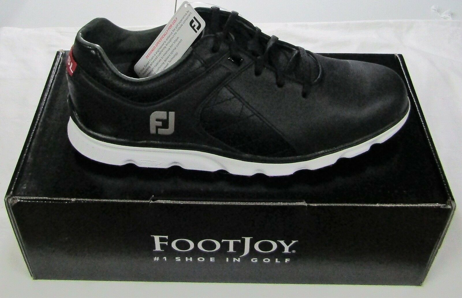 FootJoy Pro SL Spikeless Golf Shoes Color Black Style 53594 Choose ... f95da9ca138