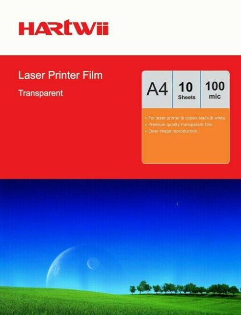 5 or 10 Sheets Transparency OHP Film Acetate Clear A4 For Laser & Copier Hartwii