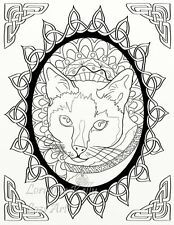 5 x Celtic Knots Animals Adult Coloring Pages PDF Download Cat Koala Dolphin 5-2