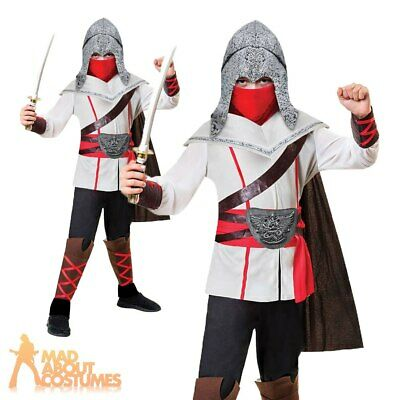 Boys Assassins Creed Ninja Costume Samurai Warrior Child Fancy Dress Outfit Kids Ebay