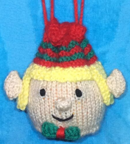 KNITTING PATTERN Elf Drawstring Christmas Gift Bag 10cms fits Choc orange