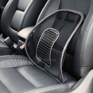 New-Black-Mesh-Lumbar-Back-Brace-Support-Office-Home-Car-Seat-Chair-Cushion-Cool