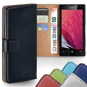 360-Grad-Schutz-Huelle-fuer-Nokia-Lumia-520-Etui-Klapp-Huelle-Komplett-Book-Case