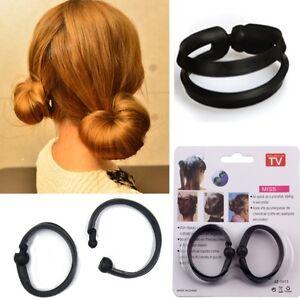 2-Haar-Frisurenhilfen-Knotenrolle-Dutt-Haarknoten-Haarstyler-Hair-Bun-Topsy-Tail