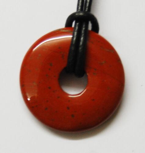 Ø 30 mm Edelstein-Anhänger Donut rund Jaspis rot