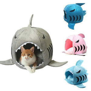 Shark Warm Washable Cushion Mat Dog Cat Pet Basket House Pad Tent Bed 4 Colors