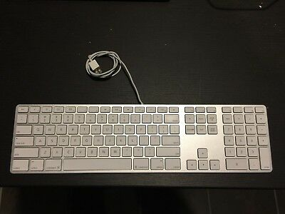 Apple A1243 MB110LL/A Wired Keyboard USB Tested/Working 885909173822 | eBay