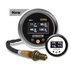 innovate 3903 ecf 1 ethanol flex fuel e85 wide band gauge fuel temp press ebay. Black Bedroom Furniture Sets. Home Design Ideas