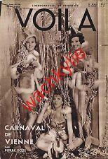 voila n°206 du 02/03/1935 Tempête en mer Carnaval Vienne Achard Sorcellerie