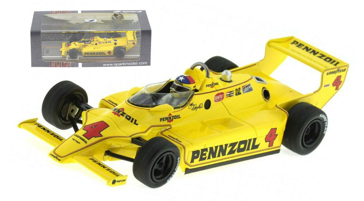 SPARK 43in80 CHAPARRAL 2K Winner Indy 500 1980-JOHNNY RUTHERFORD scala 1/43