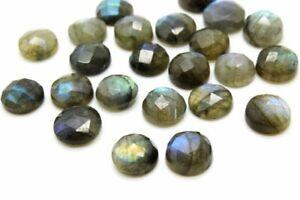 Calibrated-4mm-Natural-AA-Labradorite-Round-Faceted-Cabochon-Loose-Bulk-Gemstone