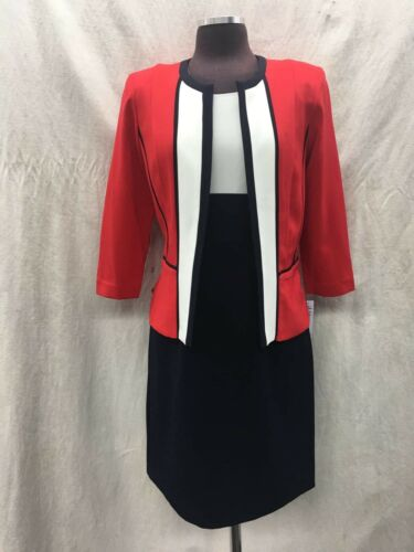 dettaglio nuovo 129 con tag al vendita 18 Sandra da abito taglia nero Abito 40 rosso Darren lunghezza w6IXqpOx1