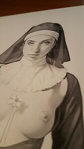 Sexy-Nun-Pencil-on-Fabriano-F6-220gr-new-original