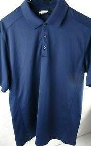 Nike-Golf-Dri-Fit-Solid-Blue-Short-Sleeve-Polo-Shirt-Men-039-s-Size-Large-L