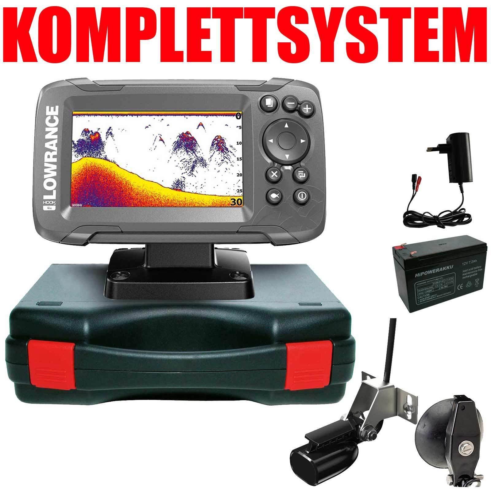 Lowrance Sonar Fish Finder Portable Basic Complete System-Hook 2 - 4x