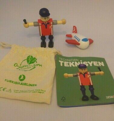 Turkish Airlines Wooden Toys Kids Technician Organic Children | eBay