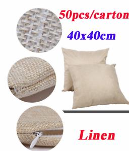 Sublimation Linen Cushion Cover Case 40x40cm LP-CC-40-L Heat Press Transfer