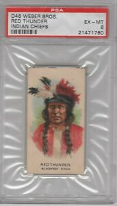 1910-D46-Weber-Bros-Indian-Chiefs-Red-Thunder-Graded-PSA-6