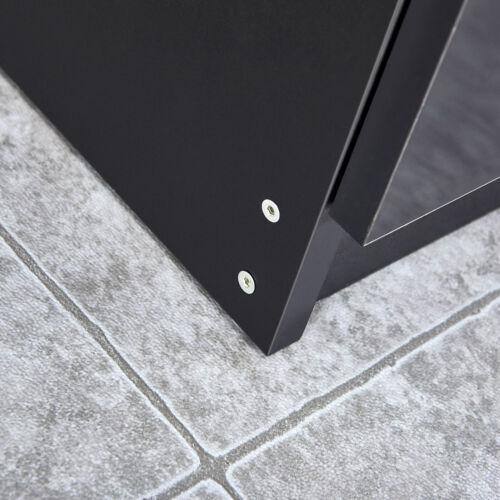 Nachttisch Nachtschrank für Boxspringbett Kommode 3 Schubladen Hochglanz Schwarz