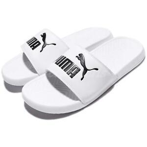 9018750e8608 Puma Popcat Big Logo White Black Men Sports Sandal Slippers Slides ...