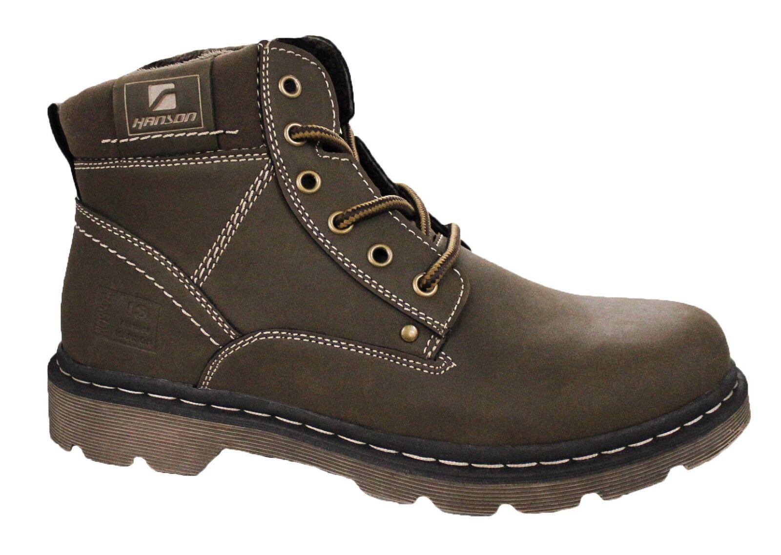 HANSON STIVALI men INVERNALI NEVE shoes SNEAKERS brown CON PELLICCIA INTERNA