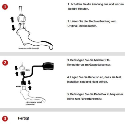 DTE pedalbox 3 S Pour Skoda Fabia 51 Kw 02 2007-03 2010 1.4 TDI TUNING gaspedalbox