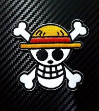 Embroidered Patch Iron Sew Logo one piece cartoon kid toy game funny skull biker