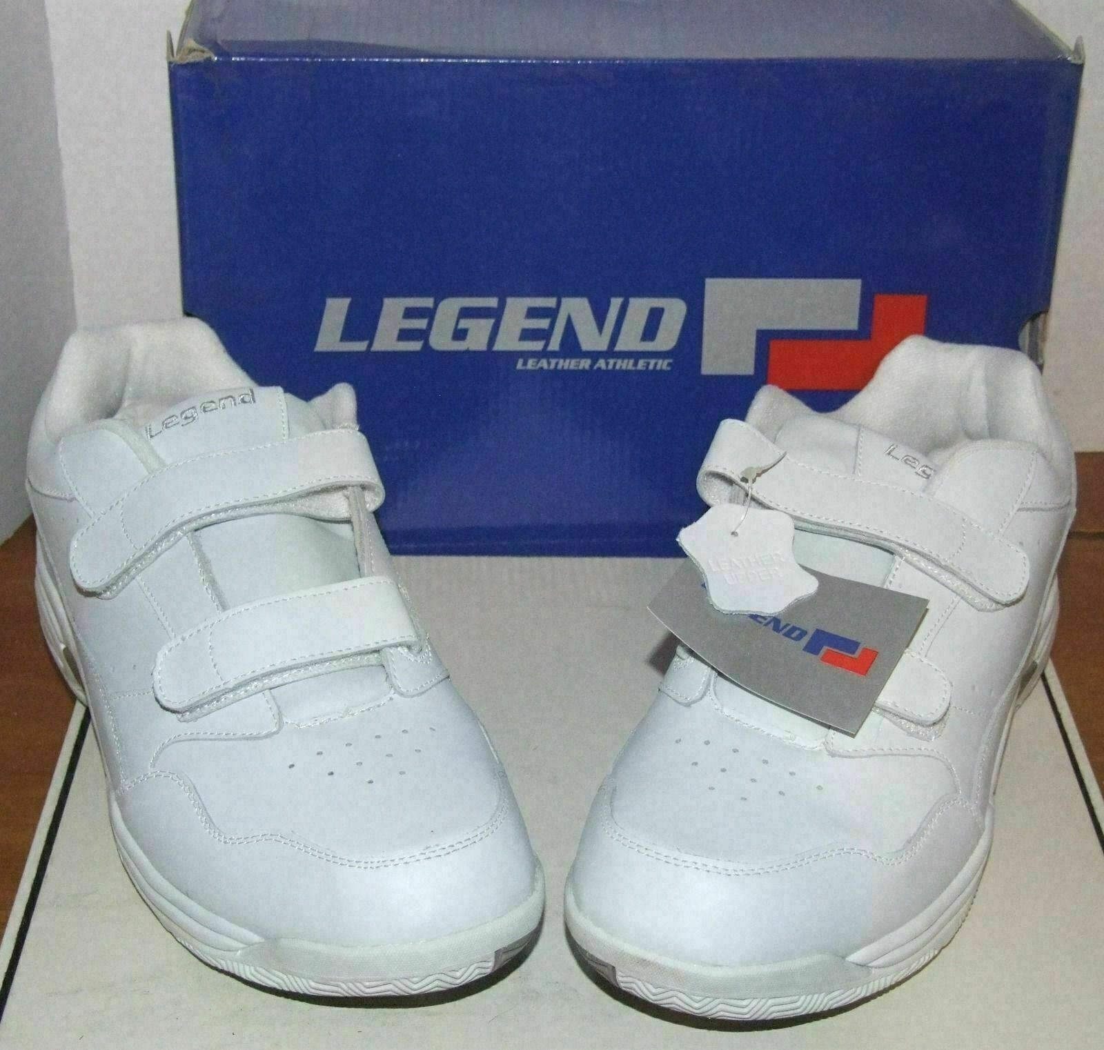 Mens Legend White Leather Sneakers