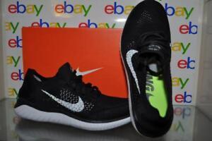 0dd827dd9d201 Nike Free RN Flyknit 2018 Mens Running Shoes 942838 001 Black White ...